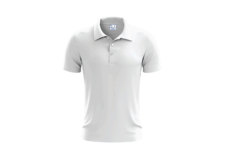 Camisa Polo Masculina Branca - Dry-fit