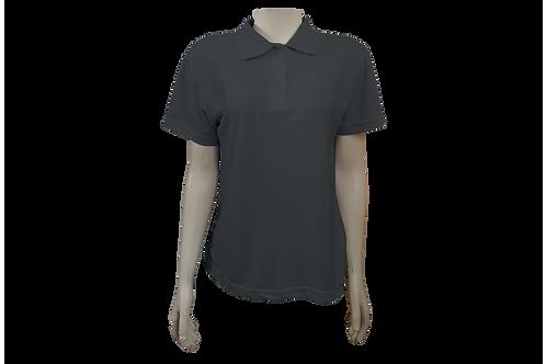 Camisa Polo Feminina - Piquet - Cinza Chumbo - Kit c/6 peças