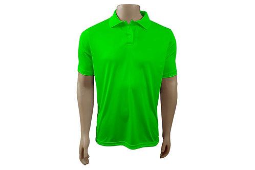 Camisa Polo Masculina - Verde Limão - Dry-Fit - 6 peças
