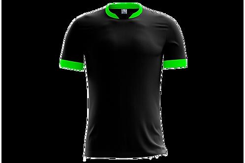 Camiseta Preta e Verde Limão - 6 peças