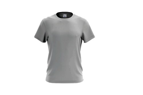 Camiseta Básica Cinza Claro - 6 peças