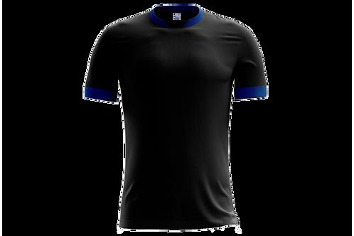 Camiseta Preta e Azul Royal - 6 peças