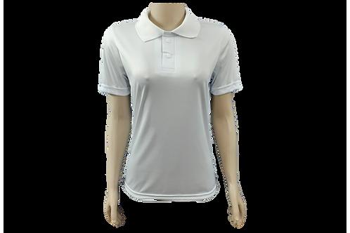 Camisa Polo Feminina Dry Fit - Branca - Kit c/ 6 peças