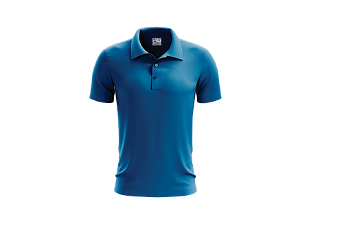 Camisa Polo Masculina Azul Cobalto - 6 peças