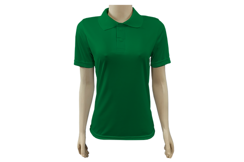 Camisa Polo Feminina Dry Fit - Verde Bandeira - Kit c/ 6 peças