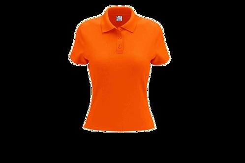 Camisa Polo Feminina Laranja Flúor - 6 peças