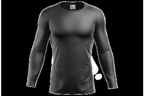 Blusa Segunda Pele Dry-fit - Cinza Chumbo - 6 peças