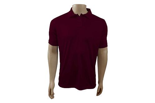 Camisa Polo Masculina - Vinho - Dry-Fit - 6 peças
