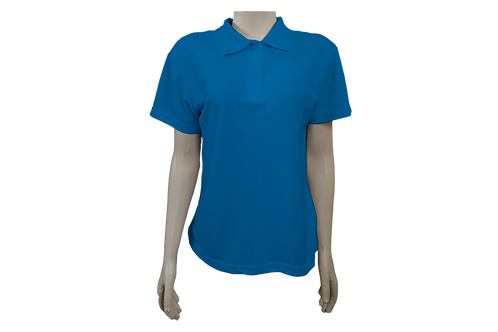 Camisa Polo Feminina - Piquet - Azul Cobalto - Kit c/6 peças