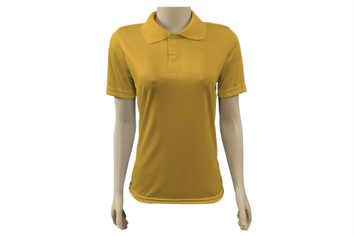 Camisa Polo Feminina Dry Fit - Dourada - Kit c/ 6 peças