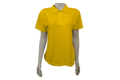 Camisa Polo Feminina - Piquet - Amarelo Ouro - Kit c/6 peças