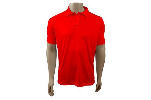 Camisa Polo Masculina - Vermelha - Dry-Fit - 6 peças
