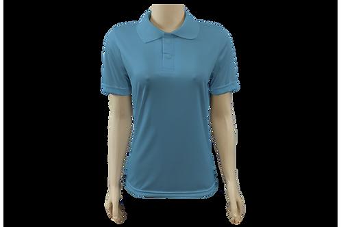 Camisa Polo Feminina Dry Fit - Azul Celeste - Kit c/ 6 peças