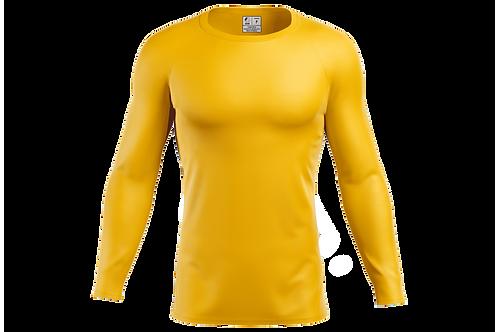 Blusa Segunda Pele Dry-fit - Amarela - 6 peças