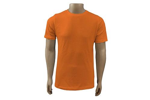 Camiseta Básica - Masculina - Algodão - Laranja - 6 peças