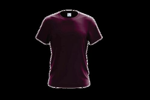 Camiseta Básica Bordô - 6 peças
