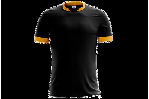 Camiseta Preta e Dourada - 6 peças