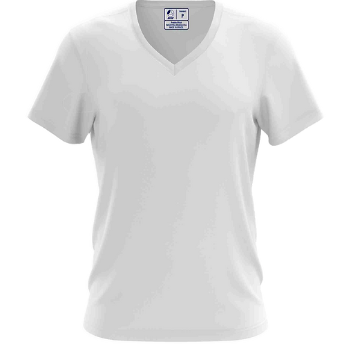 Camiseta Gola V Branca - 6 peças