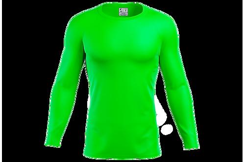 Blusa Segunda Pele Dry-fit - Verde limão - 6 peças