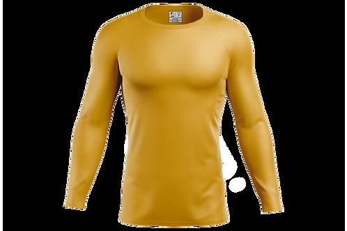 Blusa Segunda Pele Dry-fit - Dourada - 6 peças