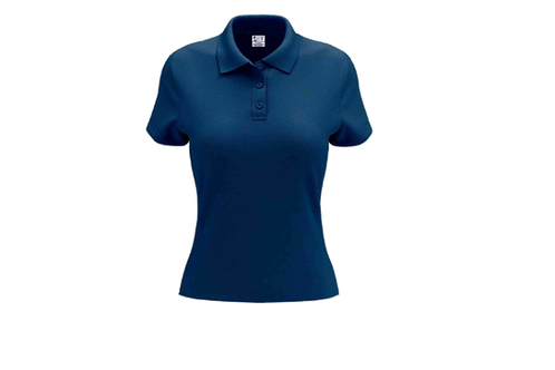 Camisa Polo Feminina Azul Royal - Dry-fit