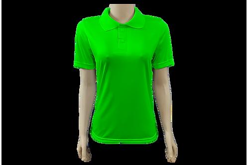 Camisa Polo Feminina Dry Fit - Verde Limão - Kit c/ 6 peças