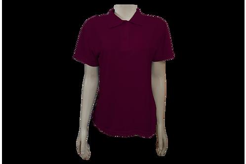 Camisa Polo Feminina - Piquet - Vinho - Kit c/6 peças