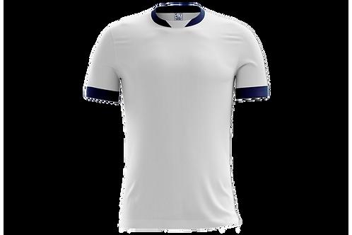 Camiseta Branca e Azul Marinho - 6 peças