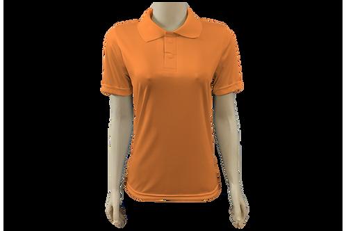 Camisa Polo Feminina Dry Fit - Laranja - Kit c/ 6 peças