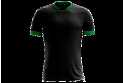 Camiseta Preta e Verde - 6 peças