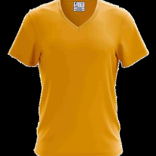 Camiseta Gola V Dourada - 6 peças