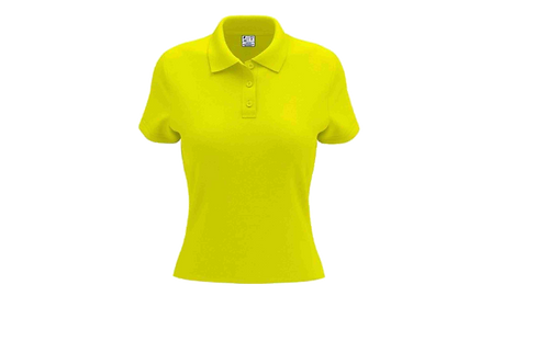 Camisa Polo Feminina Amarelo canário - 6 peças