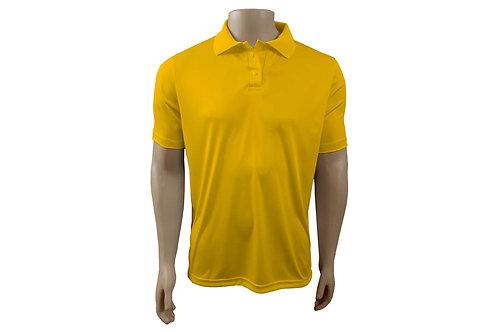Camisa Polo Masculina - Amarelo Ouro - Dry-Fit - 6 peças
