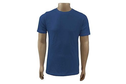 Camiseta Básica - Masculina - Algodão - Azul Royal - 6 peças