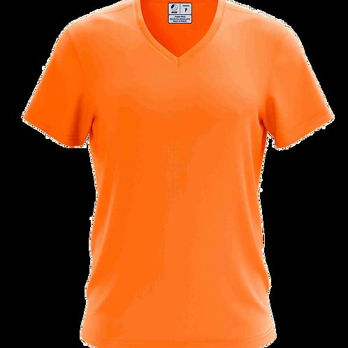 Camiseta Gola V Laranja - 6 peças