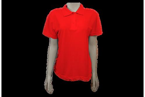 Camisa Polo Feminina - Piquet - Vermelha - Kit c/6 peças