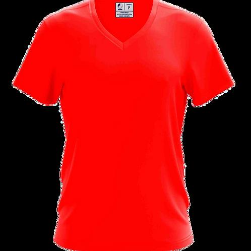 Camiseta Gola V Vermelha - 6 peças