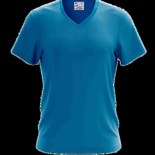 Camiseta Gola V Azul Cobalto - 6 peças