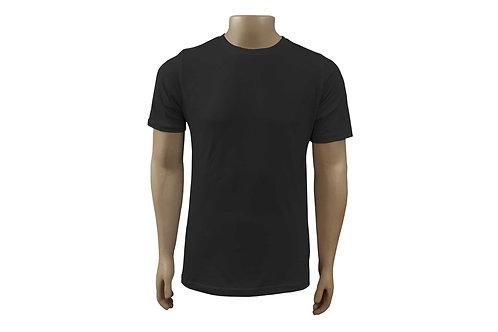 Camiseta Básica - Masculina - Algodão - Preta - 6 peças