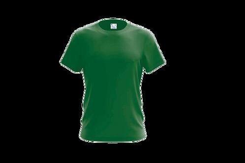 Camiseta Básica Verde Bandeira - 6 peças