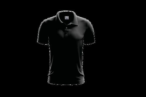 Camisa Polo Masculina Preta - Dry-fit - 6 peças