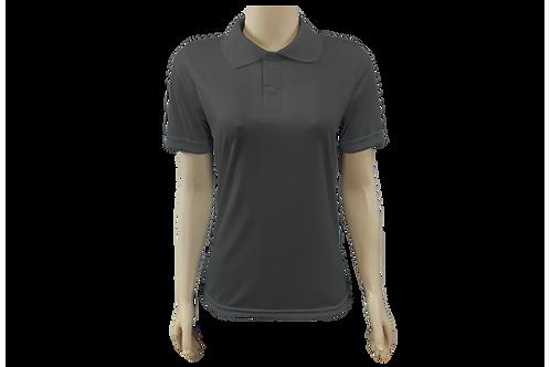 Camisa Polo Feminina Dry Fit - Cinza Chumbo - Kit c/ 6 peças