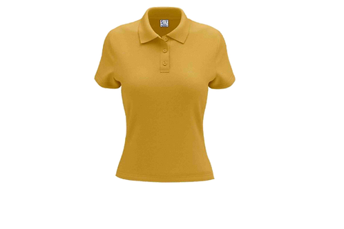 Camisa Polo Feminina Dourada - 6 peças