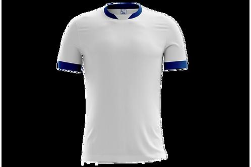 Camiseta Branca e Royal - 6 peças