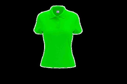 Camisa Polo Feminina Verde Limão - 6 peças