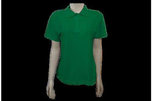 Camisa Polo Feminina - Piquet - Verde Bandeira - Kit c/6 peças
