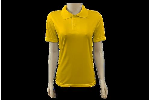 Camisa Polo Feminina - Dry Fit - Amarelo Ouro - Kit c/ 6 peças