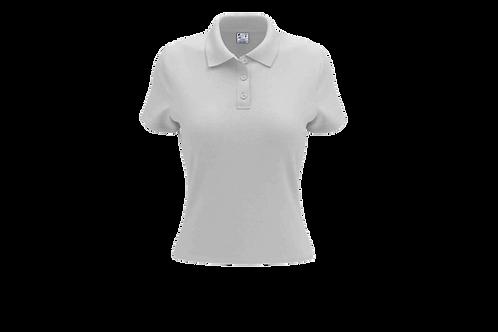 Camisa Polo Feminina Branca - Dry-fit - 6 peças