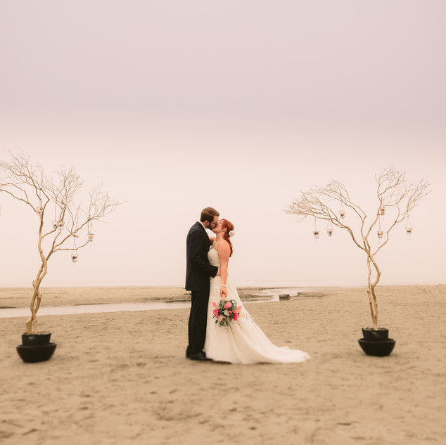 Racehl & Daren | Newport Oregon | Beach Wedding