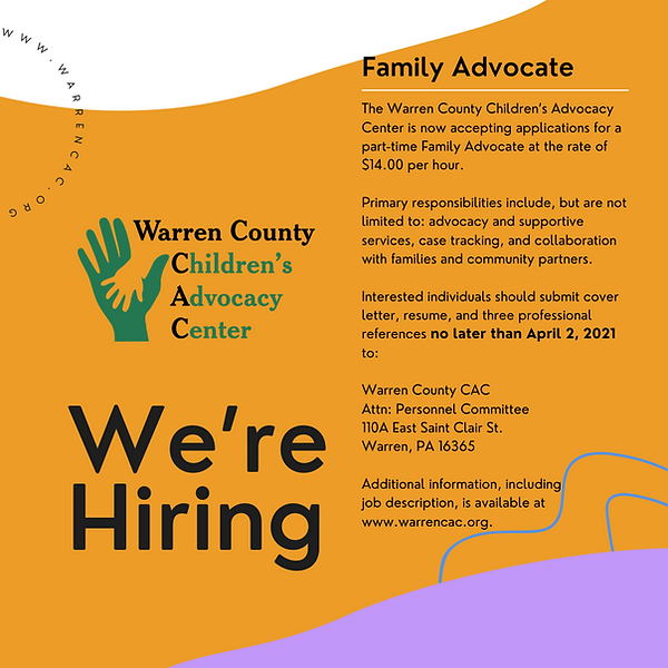 Family Advocate Hiring Announcement (1).